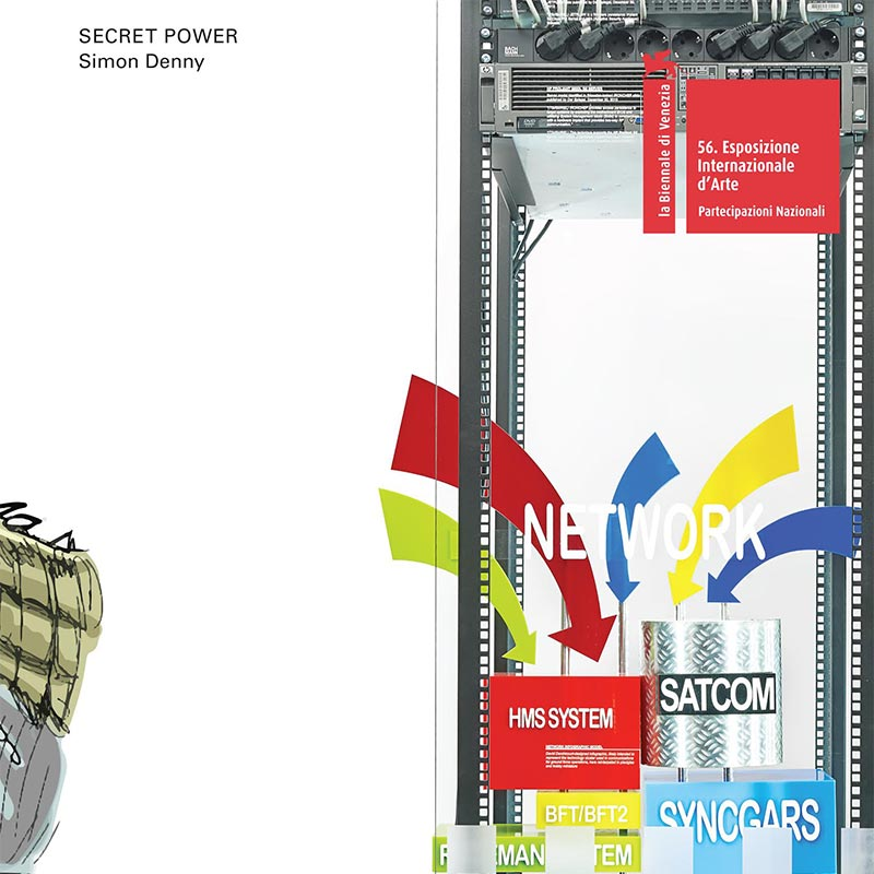 Book cover with close-up image of modded server-rack display with some interpretations of David Darchicourt's designs for N S A Defense Intelligence.