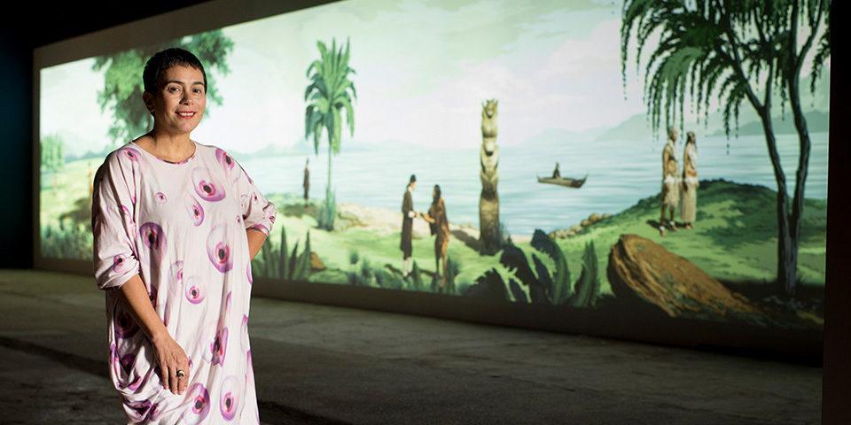 Lisa Reihana. Biennale Arte 2017. Photo: Michael Hall.