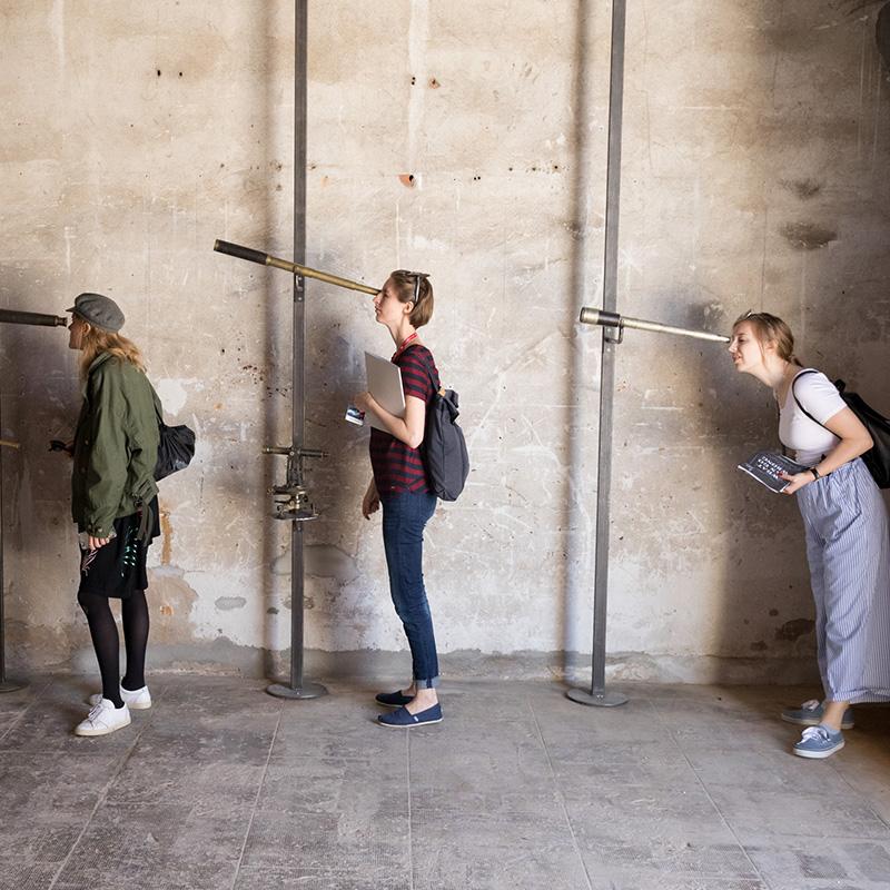 """""""Lisa Reihana: Emissaries"""", Biennale Arte 2017. Photo: Michael Hall."""