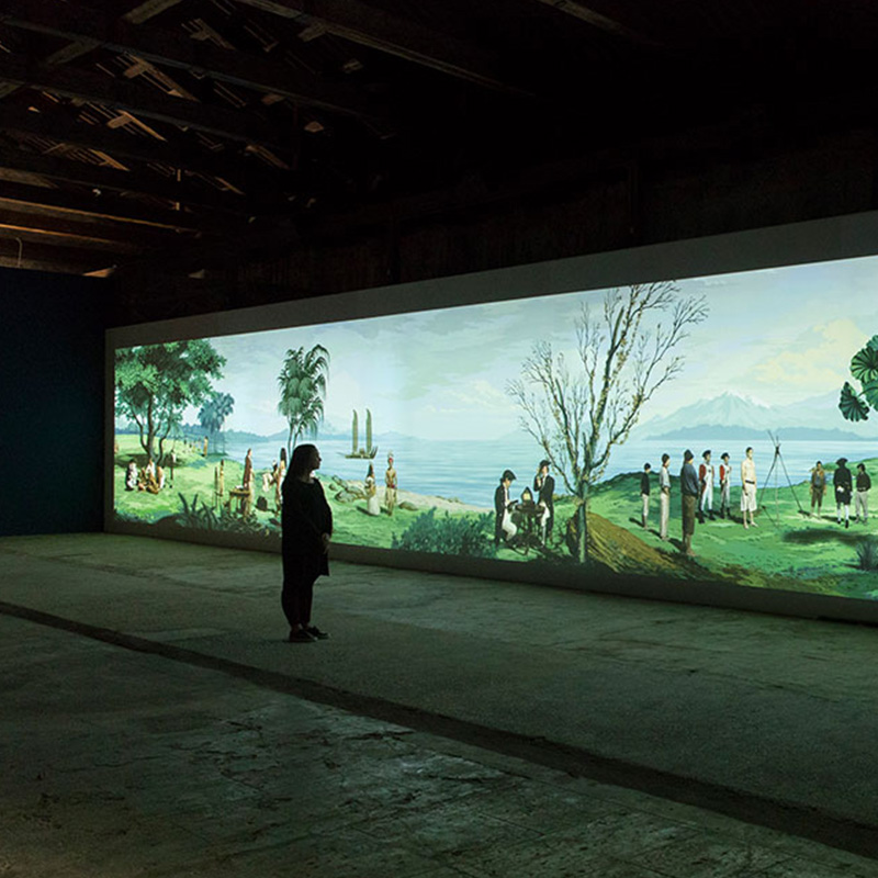"""""""in Pursuit of Venus [infected]"""", 2015–17, """"Lisa Reihana: Emissaries"""", Biennale Arte 2017. Photo: Michael Hall."""